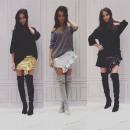 wholesale Skirts: Skirt, mini, fit, DE LUX, gold