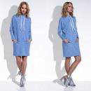 vestido de las mujeres, productor, bolsillos, azul
