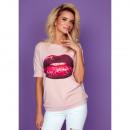 wholesale Shirts & Blouses: DE LUX blouse: LIPS printed sleeve, oversize, ...
