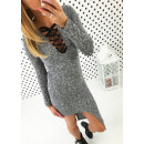 Asymmetrical dress, sexy neckline, unisize