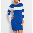 wholesale Fashion & Apparel: Striped tunic,  dress, blue, S / ML / XL