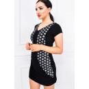 wholesale Haberdashery & Sewing: Mini dress,  sequins, sleeves, black