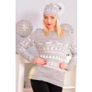 Sweater Weihnachten, Hersteller, uni grau