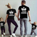wholesale Shirts & Tops: T-Shirt , HIS  QUEEN, producer, black
