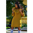 wholesale Fashion & Apparel: Boho long sweater,  golf, hood, yellow, oversize