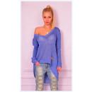 Großhandel Jeanswear: Pullover, dünn,  leicht,  asymmetrisch, ...