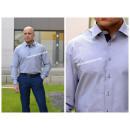 Shirt Grijs glad, elegant, Poolse producent