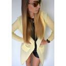 long pull, gilet, capuche, qualité, jaune