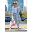 wholesale Fashion & Apparel: Sweater long coat cardigan braids, gray
