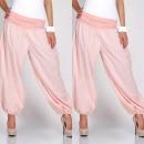 Großhandel Hosen: Hose alladynki, lang, uni, baggy, pink