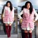 Waistcoat, fur, warm, pink