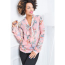 wholesale Fashion & Mode: Blouse, flowers,  light, neckline, quality, pink