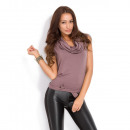 Großhandel Hemden & Blusen: Kleid Bluse, zwei in einem, Qualität, Cappuccino