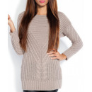 Pullover, Tunika,  hohe Qualität, braun, S / M