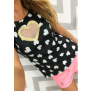 wholesale Erotic Clothing: T-shirt, blouse,  heart, sexy, black, onesize