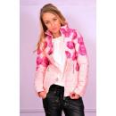 hurtownia Plaszcze & Kurtki: Wiosenna kurtka,  różowa, róże, rozmiary