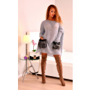 wholesale Fashion & Apparel: Sweater with fur  pockets, quality, gray