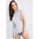 Großhandel Fashion & Accessoires: T-Shirt, Druck  Walkmans, herzen, grau