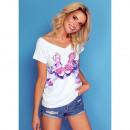 Großhandel Shirts & Tops: DE LUX T-Shirt : HEELS, Oberteil, Dekolleté, weiß