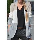 Großhandel Pullover & Sweatshirts: Strickjacke, Trikolore, Qualität, beige