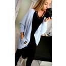 grossiste Vetement et accessoires: Cardigan,  couvre-lit, un pull, uni, bleu