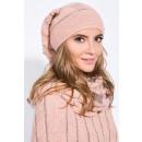 wholesale Headgear: Set, hat, scarf,  chimney, quality, apricot