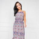 ingrosso Ingrosso Abbigliamento & Accessori: maxi vestito  ornamento floreale, blu