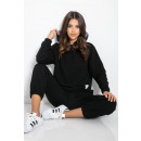 wholesale Trousers: Set of hooded pants, quality, black