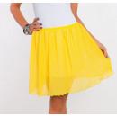 Großhandel Röcke: Minirock plissiert, Qualität, gelb, ...