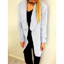 Rebeca larga, suéter, abrigo, azul calidad