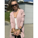 Pullover, Strickjacke, Strickjacke, Gürtel, pink