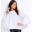 mayorista Ropa / Zapatos y Accesorios: Blusa con mangas  acampanadas, fabricante, blanco