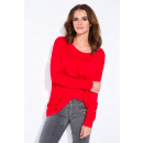 wholesale Shirts & Blouses: Blouse, loose, classic, producer, red