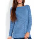 Pullover, Tunika,  hochwertige blau S / M
