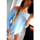 Großhandel Hemden & Blusen: Gebundene Bluse, Qualität, Produzent, blau