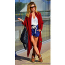 wholesale Fashion & Apparel: Long sweater,  coat, cardigan pockets, burgundy