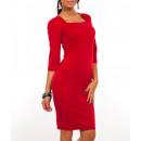 Großhandel Kleider: Elegantes Kleid, klassisch, feminin, rot