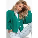 groothandel Kleding & Fashion: Vest korte knopen lange mouwen smaragd