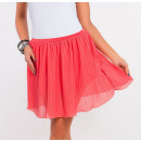 Großhandel Röcke: Minirock plissiert, Qualität, Koralle, ...