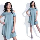 Sukienka, krótka, luźna, producent, oliwkowa