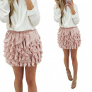 Skirt, mini, flounces, unisize