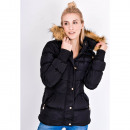 wholesale Coats & Jackets: Jacket with faux fur, hood, black