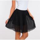 Großhandel Röcke: Minirock plissiert, Qualität, schwarz, ...