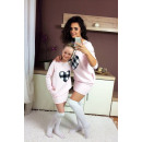 wholesale Childrens & Baby Clothing: Dress sweatshirt,  mom and baby, powder pink