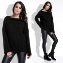 Großhandel Pullover & Sweatshirts: Pullover, warm, Hals, uni, Qualität, schwarz