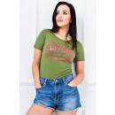 grossiste Bricoler et dessiner: T-Shirt, imprimé  brocart Alnwick, vert foncé