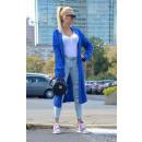 wholesale Fashion & Apparel: Sweater long coat cardigan braids, cornflower