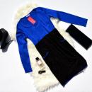 Großhandel Fashion & Accessoires: Kleid, zwei  Farben, Taschen,  marineblau mit ...