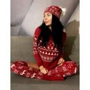 wholesale Fashion & Apparel: Christmas sweater,  producer, uni, burgundy