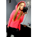 wholesale Fashion & Apparel: The jacket, thick,  warm, hood, neon pink